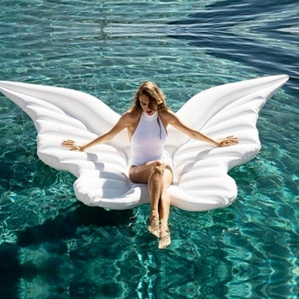 HDCM ángel Fila Flotante Inflable Hinchable Colchonetas Piscina Inflable Flotador ángel Piscina para Adultos y Niños Hinchables Juguete para Fiesta de Piscina (250180cm)