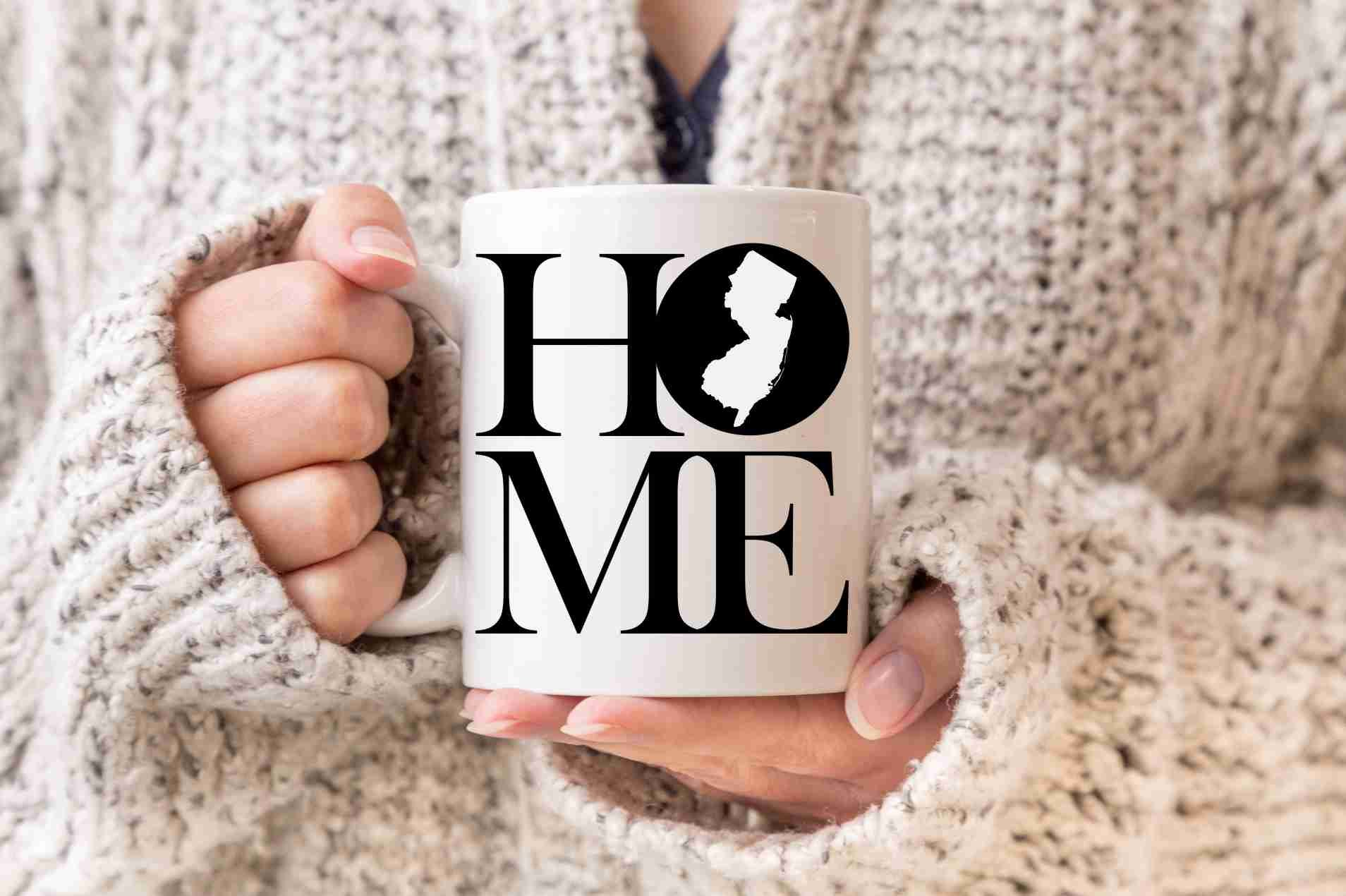 New Jersey Mug State Mug Coffee Mug Home Mug Homesick Gift Personalized Mug Custom Mug New Jersey Gift Welcome Home Gift New Home Gift