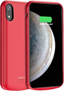 Battery Case for iPhone X XS 10,JUBOTY 4000mAh Portable Charging Case for iPhone X XS 10 Rechargeable Battery Pack Protective Charger Case Support Wired Headset(Red)