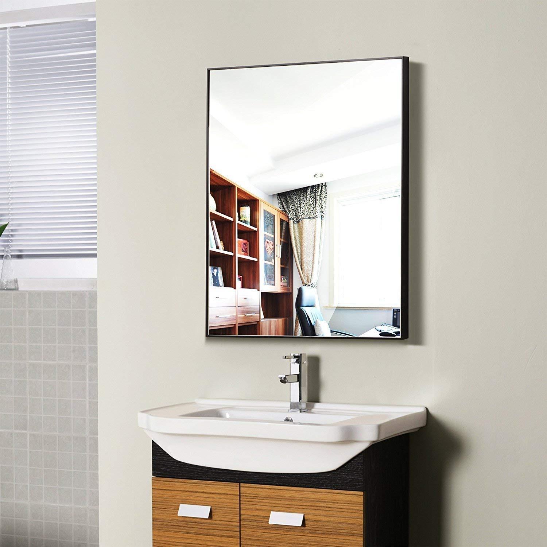 Amazon.com: Hans & Alice Large Rectangular Bathroom Mirror, Wall ...