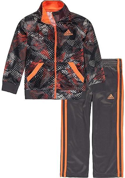 4e85c2f83e77 adidas Baby Boys  Tricot Jacket and Pant Set