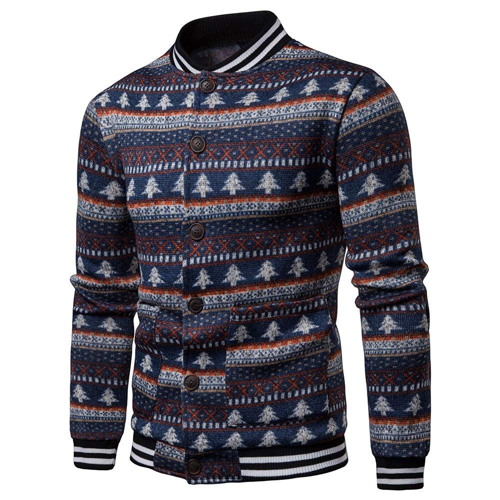 Amphia - Herrenjacke - Herren Casual Herbst Weihnachten gedruckt Bluse Xmas Jacke Mantel Top