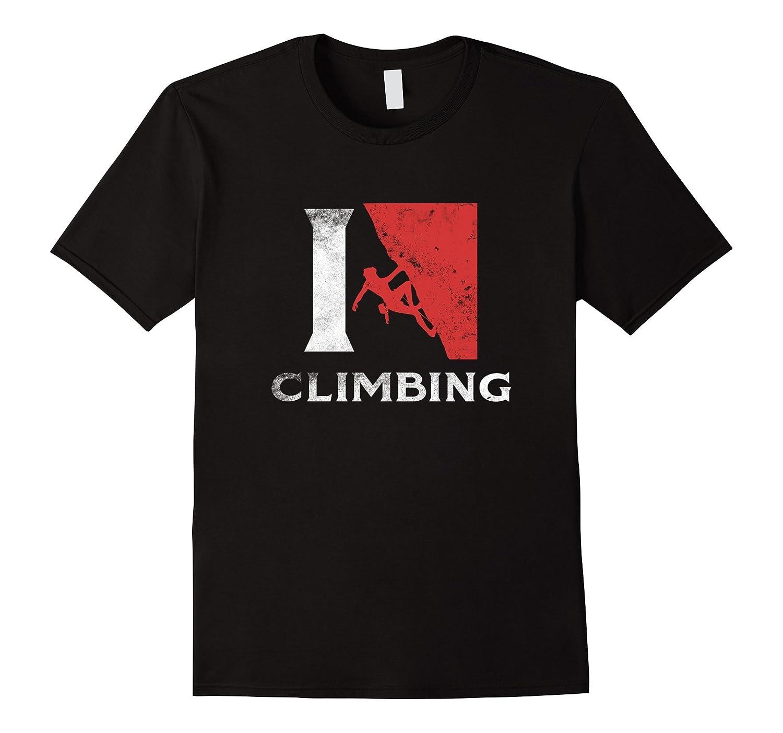 American Rock Climber T Shirt I Love Climbing Gifts Cool Tee-CD