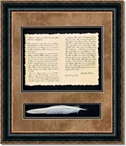 WALL ART GIANT   Gettysburg Address with Quill on Archival Paper, Fade Resistant Ultra Chrome Ink   Custom Framed Historic Documents   Various Styles