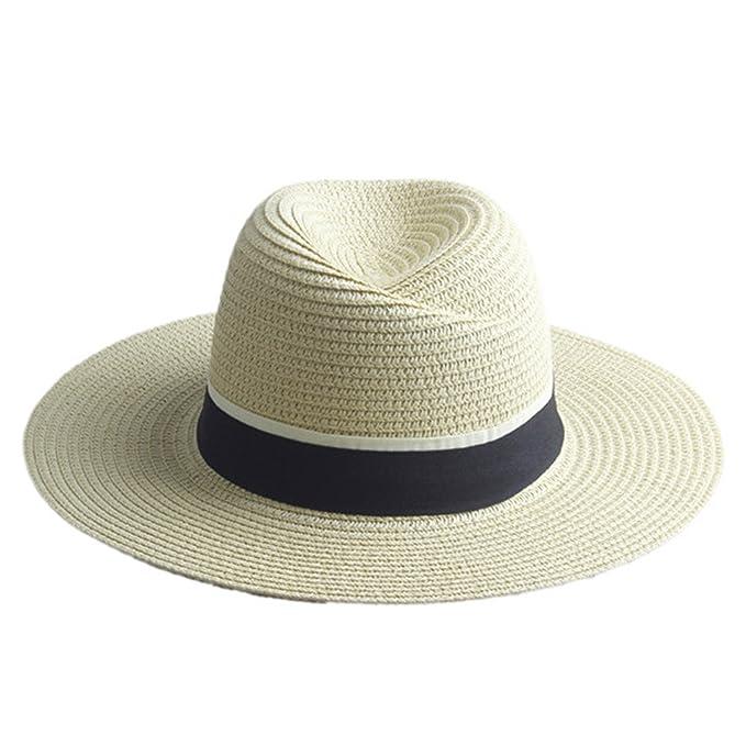 b886be85d Amazon.com: ylovego Fashion Women Straw Wide Brim Sun Hat Woman ...