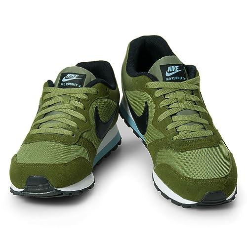 Nike MD Runner 2 Scarpe Sport, Grün (Legion Green Black Palm Green ... 4b41b42ebc73
