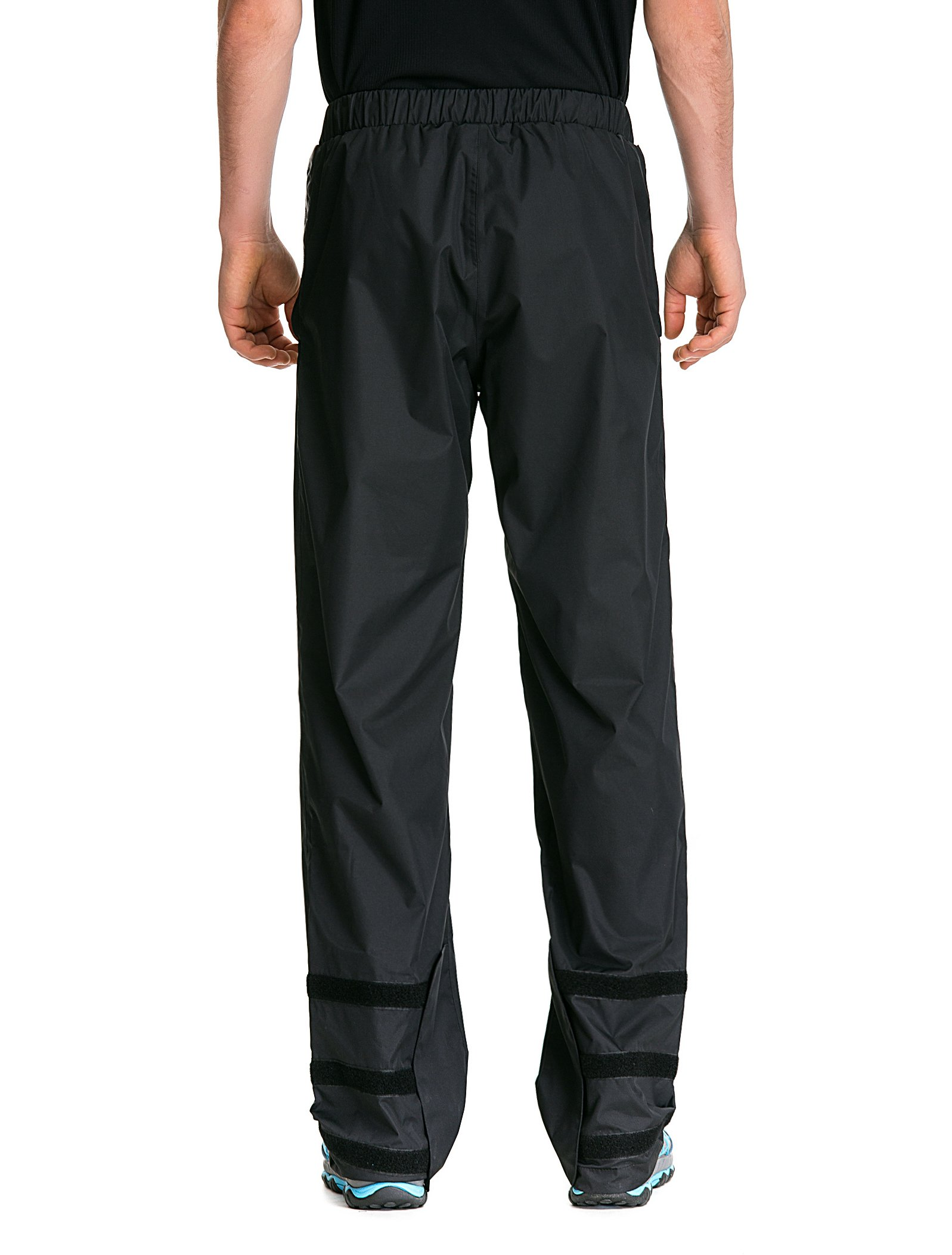 Trailside Supply Co. Men's Waterproof Windproof Elastic-Waist Rain Pants (Black,X-Large) by Trailside Supply Co. (Image #6)
