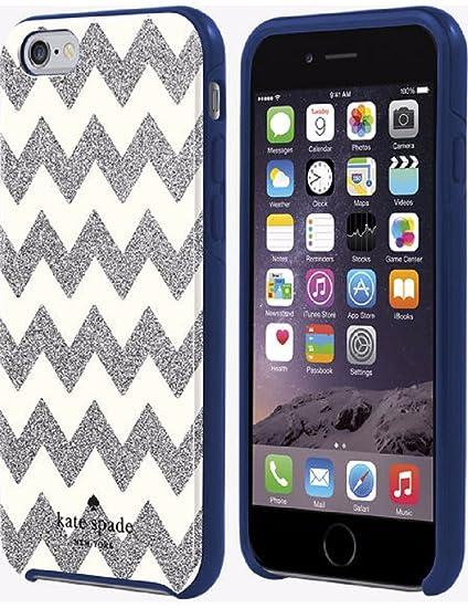 the latest 6bbfa 2e6f0 Kate Spade New York Flexible Hardshell Case for Iphone 6 - Chevron Silver  Glitter