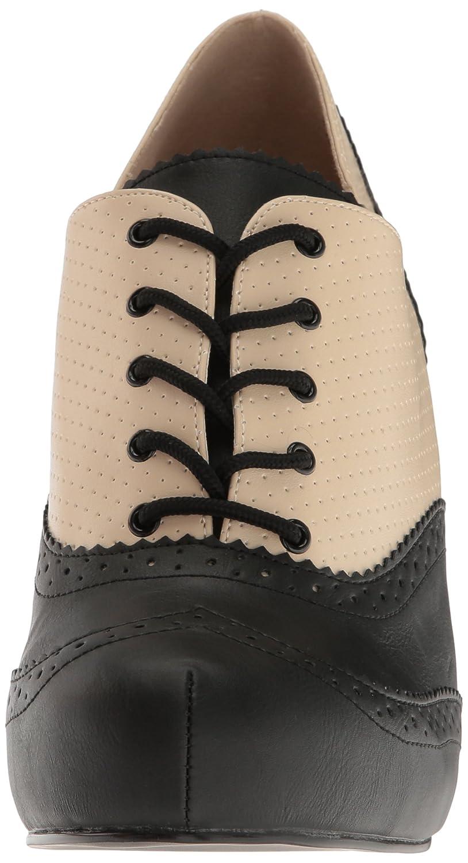 Pleaser Women's Pinup07/Cr-Bpu Platform Pump B06XH7HD7N 16 B(M) US|Cream-blk Faux Leather