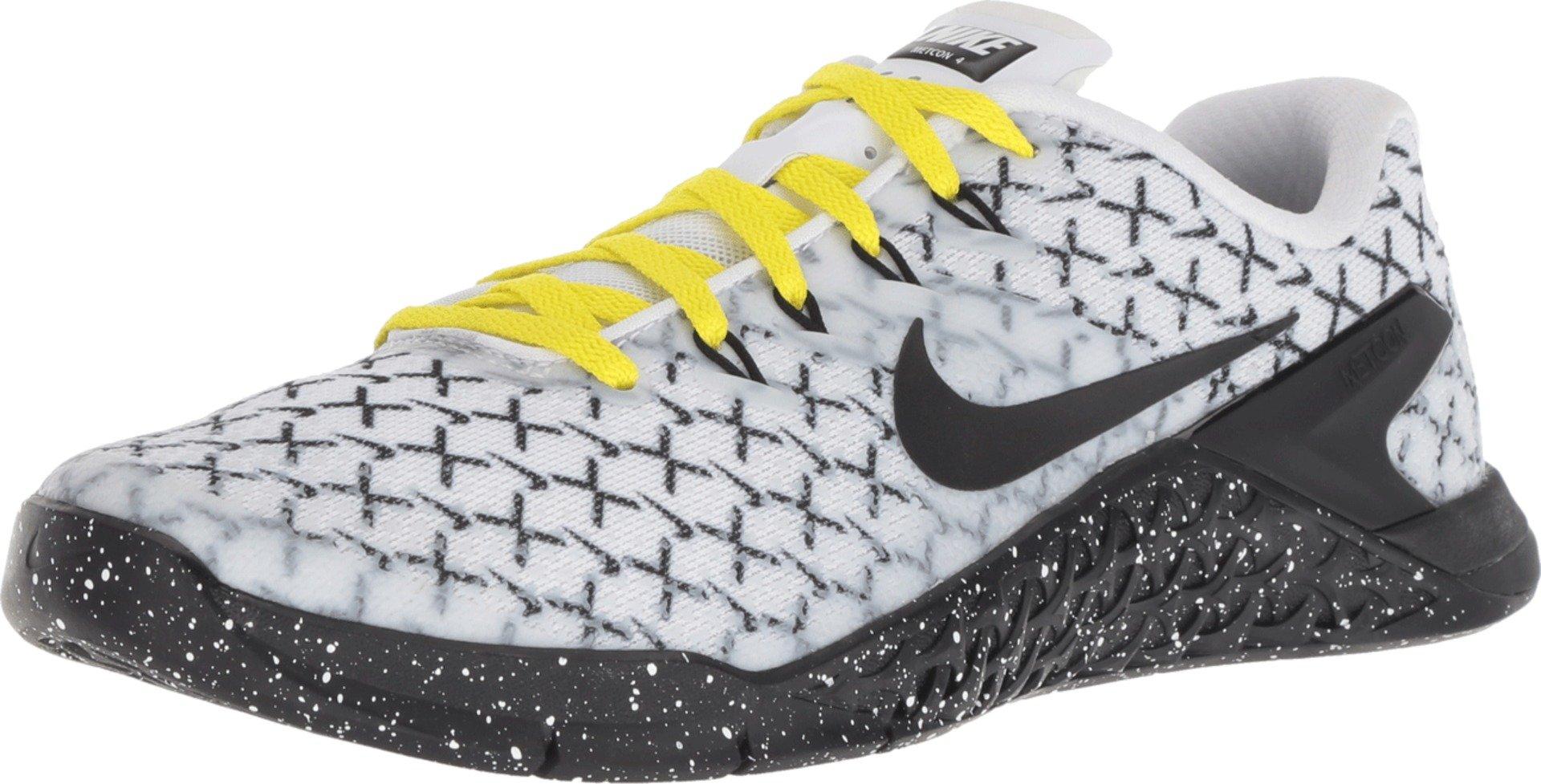 online store d69ba a6227 Galleon - Nike Women s Metcon 4 X Training Shoes (6.5, White Black Yellow)