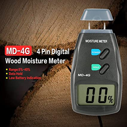 WOSOSYEYO MD-4G 4 Pines Digital LCD Medidor de Humedad de Humedad en Madera Analizador