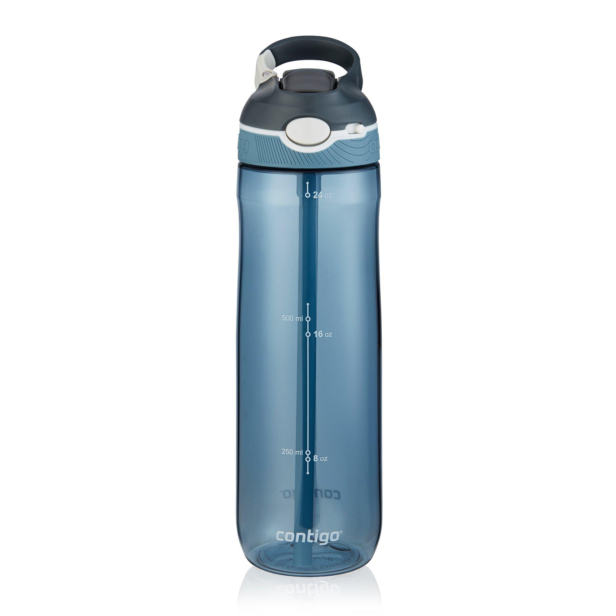 Contigo AUTOSPOUT Straw Ashland Water Bottle, 24 oz, Stormy Weather/Vibrant Lime/Monaco, 3-pack by Contigo (Image #7)