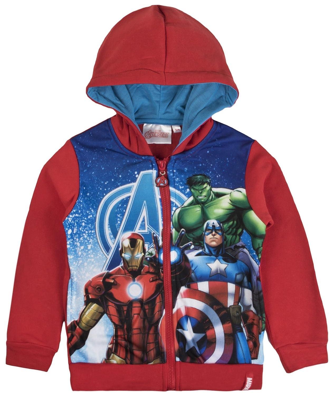 Marvel Avengers Boys Hooded Zipped Jacket