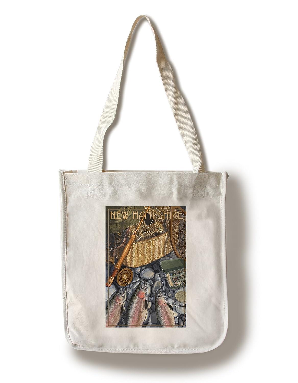 New Hampshire – 釣りStill Life Canvas Tote Bag LANT-69081-TT B01B5NZNLG  Canvas Tote Bag