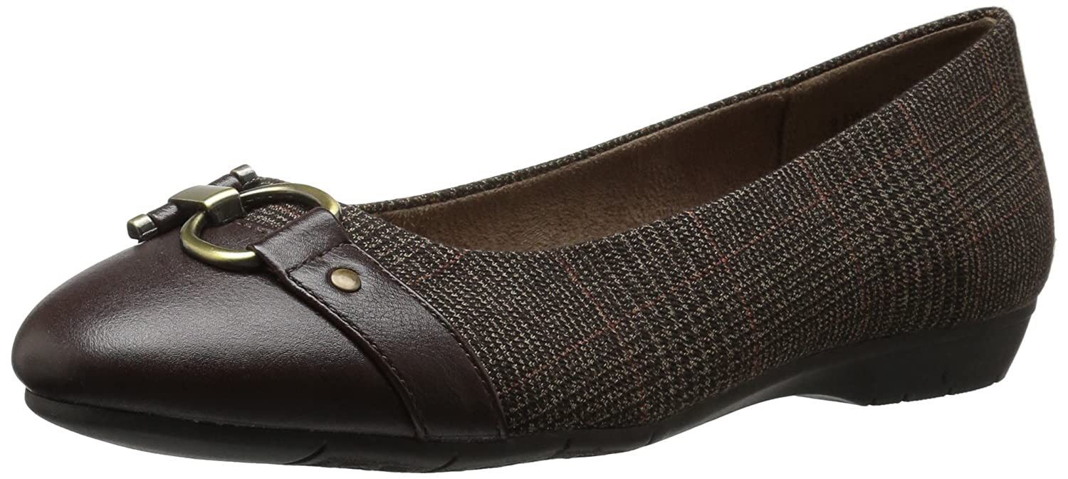 Aerosoles A2 by Women's Ultrabrite Ballet Flat B0716SFHYX 5.5 B(M) US|Brown Combo