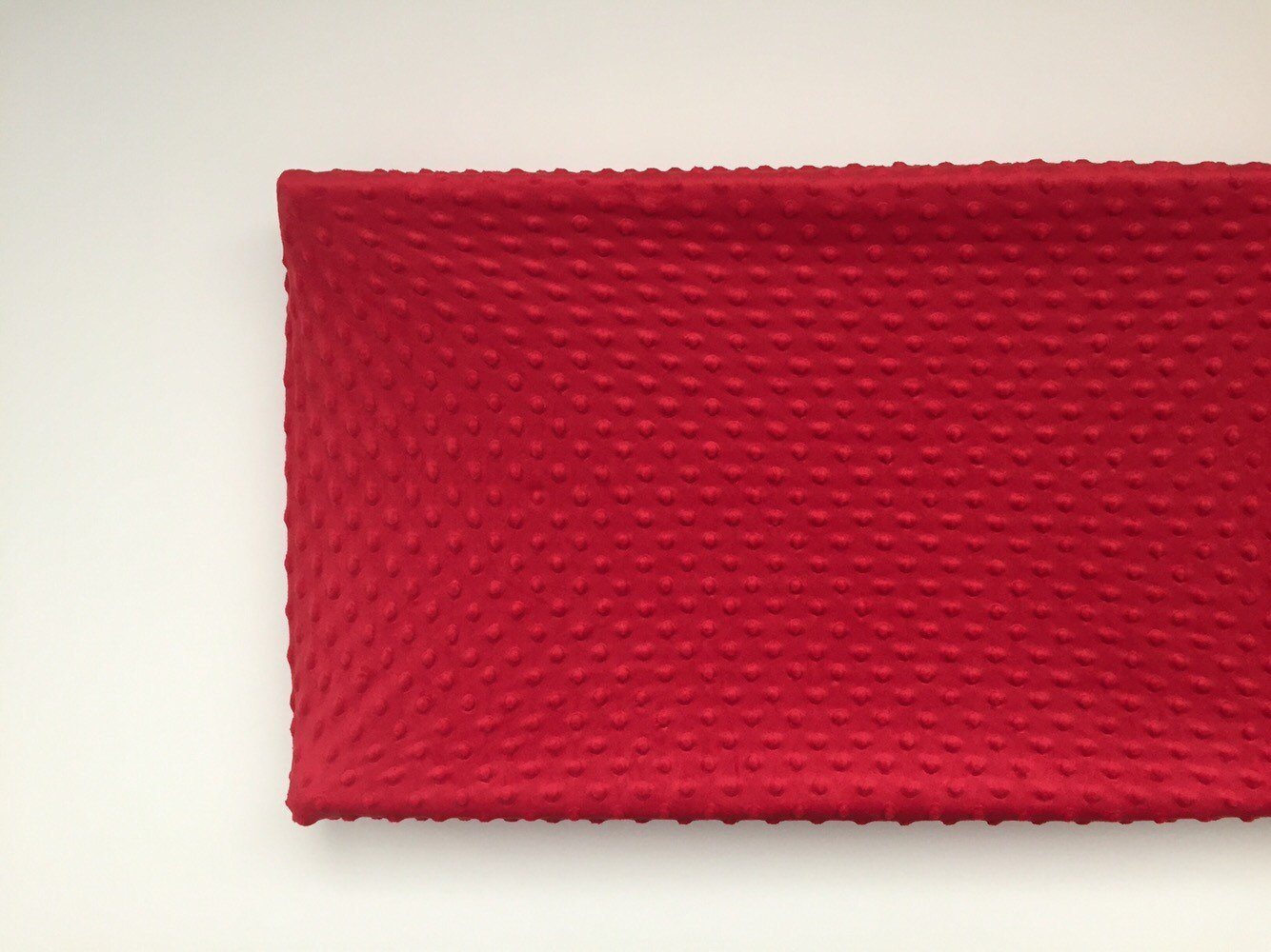 Changing Pad Cover - Red Minky