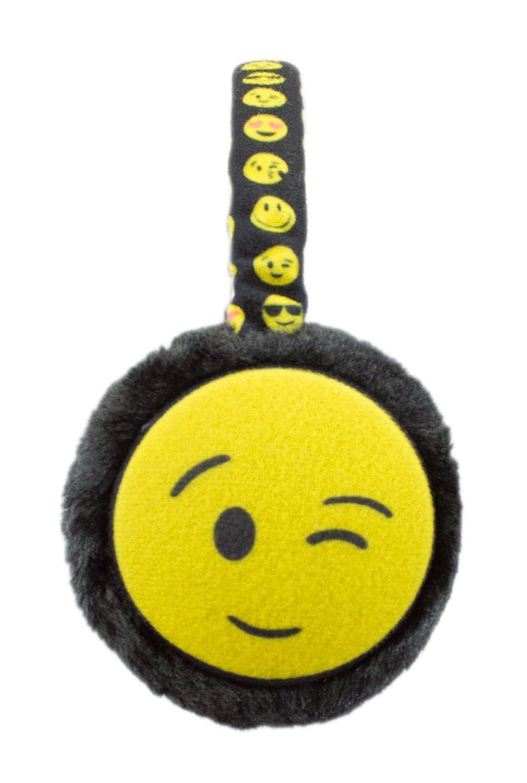 Cute Colorful Fuzzy Ear Muffs Kids, Winter Emoji Face Earmuffs Warmer for Girls