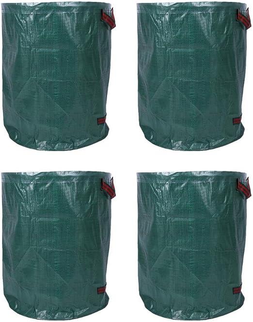 gototop Bolsas para residuos de jardín, 4 unidades saco de jardín 270L resistentes con asas, Bolsa hojas verdes con Tejido de polipropileno: Amazon.es: Jardín