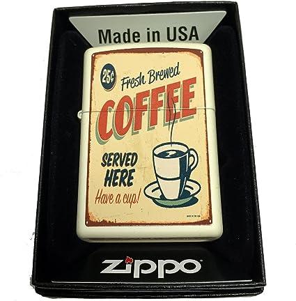 Amazon.com: Zippo – Mechero de Custom 1950 del clásico café ...