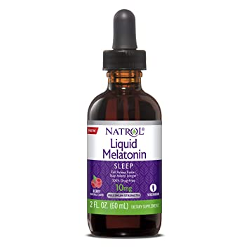 Image Unavailable. Image not available for. Color: Natrol Natrol Melatonin Liquid 10mg ...