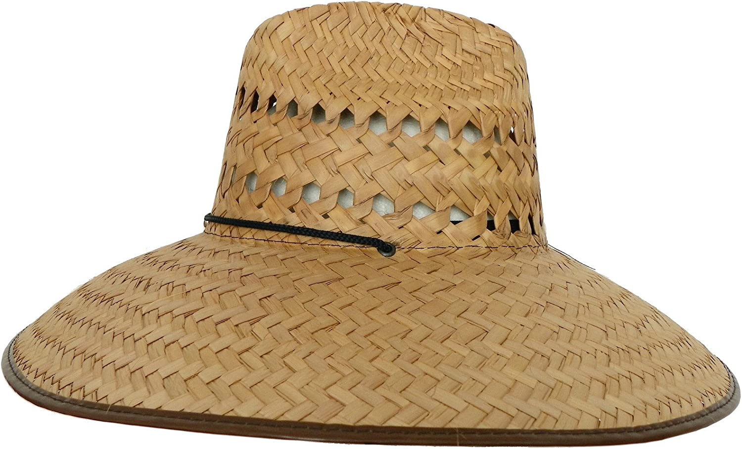 Headchange Wide Brim Lifeguard Hat Mexican Straw Beach Sun Summer Surf Safari