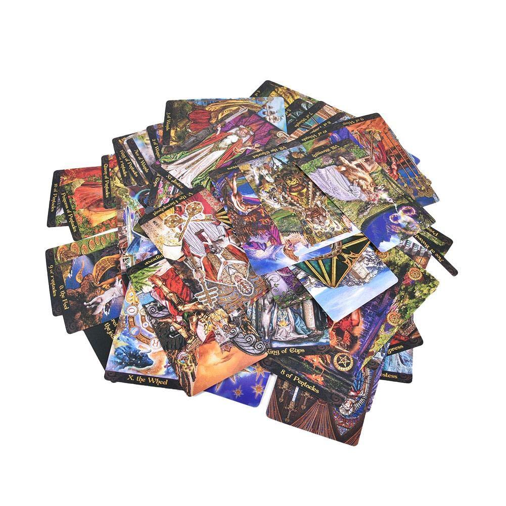 Tarot Cartas Juegos Tarot Juego De Sociedad Principiante Dar Direcciones Purifica La Mente Tarot para Reuni/ón Familiar Fiesta(Versi/ón Inglesa) Tarot Cl/ásica