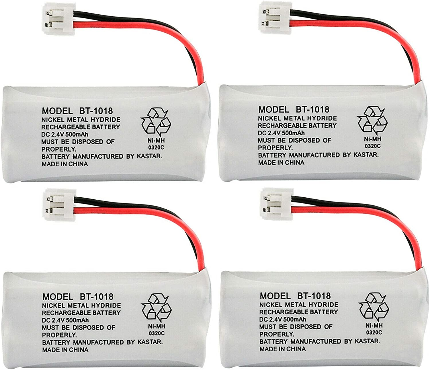 Kastar 4-Pack Battery Replacement for GE 28127FE2 28203 2-8203 28213 2-8213 28213EE1 28213EE2 28223 2-8223 28223EE2 28801 2-8801 28802 2-8802 28802FE1 28811 2-8811 28811FE2 28821 2-8821 28821FE2