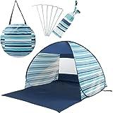 Doublesail ワンタッチテント サンシェードテント UV カット96%以上 UPF+50日除け 2-3人用 耐水 専用収納ケース付 5秒設置 ポップアップテント ビーチテント