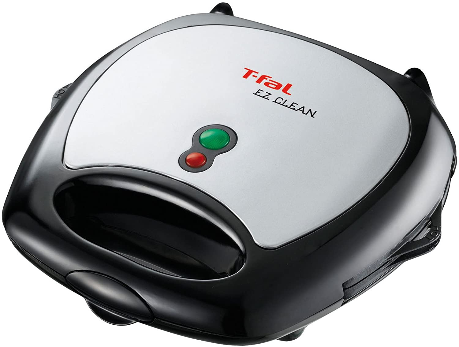 T-fal 1500637135SW6100 EZ Clean Easy to Clean Nonstick Sandwich and Waffle Maker with Removable Dishwasher Safe Plates, 2-Slice, Silver