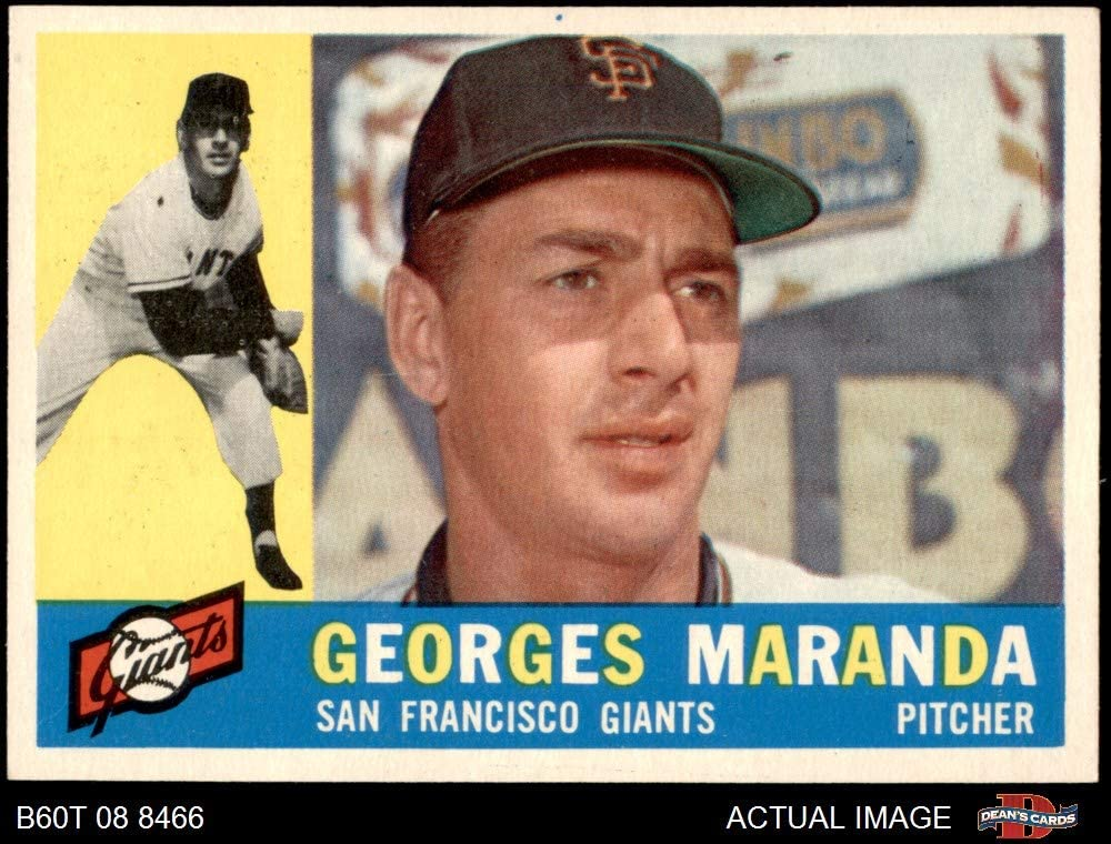 1960 Topps # 479 Georges Maranda San Francisco Giants (Baseball Card) Dean's Cards 6.5 - EX/MT+ Giants