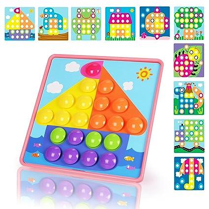 Amazon.com: NextX Button Art Preschool Learning Toys Color Matching ...