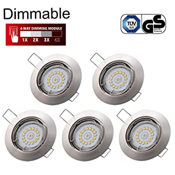 Spots Led Encastrables Dimmable Gu10 Kimjo 6w Blanc Neutre 4000k 550lm 82ra Spot Encastrable Gu10 Orientable Equivalente De 75w Lampe à