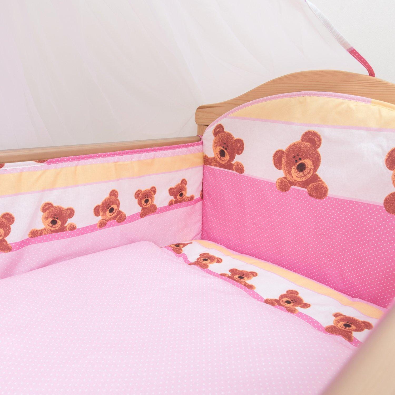 Fits Cot Bed 140x70 cm, Pattern 8 All-Round Bumper 3 Pcs Nursery Bedding Set