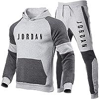Smkenor Conjunto De Chándal para Hombre Jordan 23# Sudadera con Capucha Top Bottoms Jogging Joggers Gym Sport Sweat Suit…
