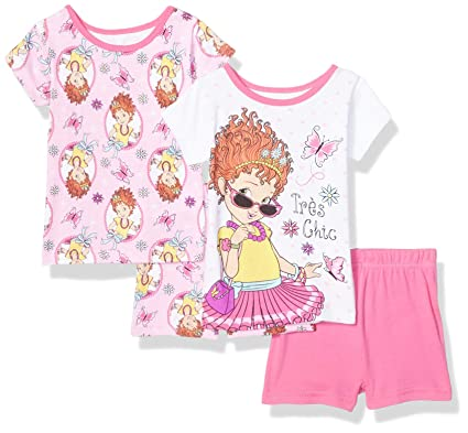 1e59cb27 AME Sleepwear Girls' Fancy Nancy Tres Chic Toddler Shortie Pajamas (2T) Pink