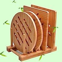 Bamboo Trivet Kitchen Bamboo Hot Pads Trivet Natural Bamboo Trivet Mat Set for Hot Dishes/Pot/Bowl/Teapot/Hot Pot…
