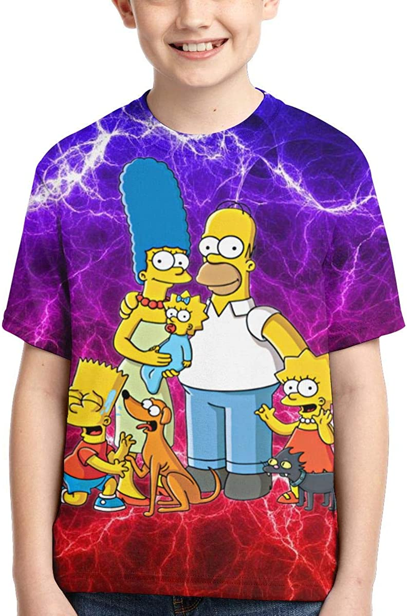 NOT Simp-Son 4 Shirt Boys Girl Tee Fashion 3D Print Short Sleeve Outdoor Classic T-Shirts