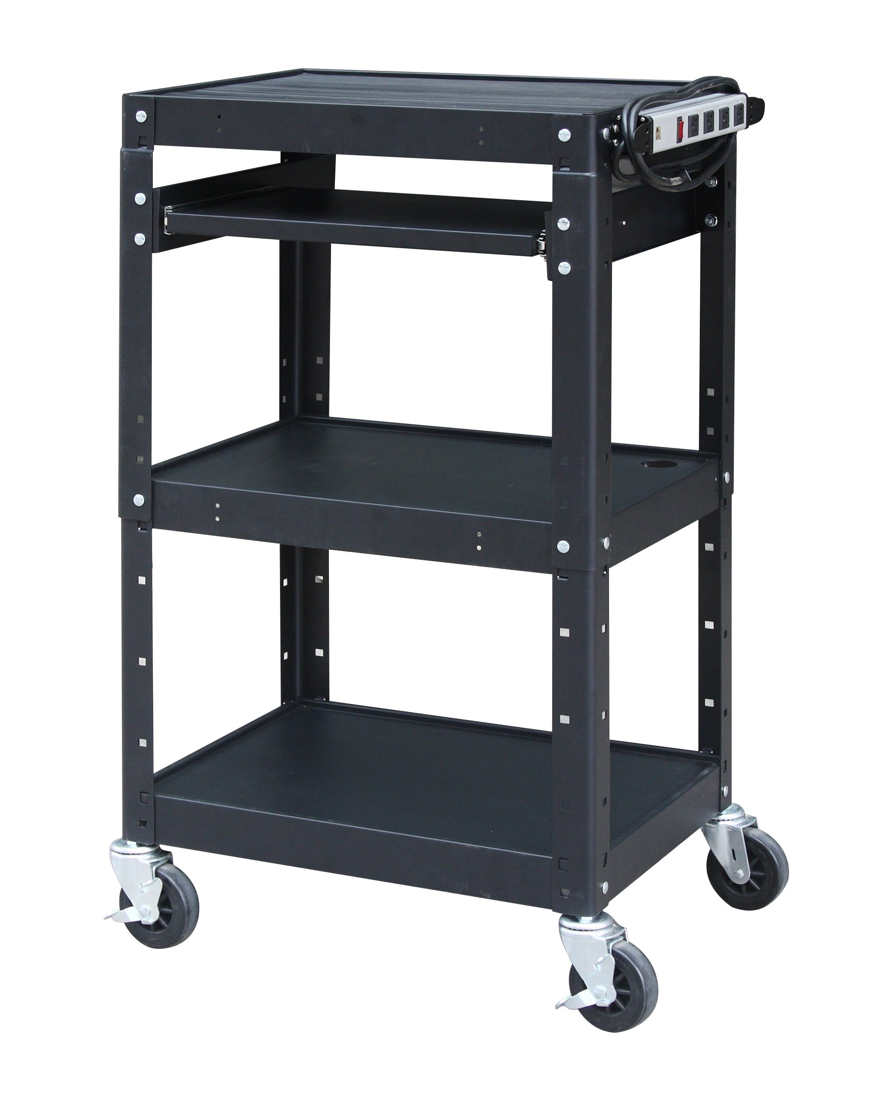 Pearington AV and presentation cart, Black, 42'' Height, 24'' Wide, 18'' Length