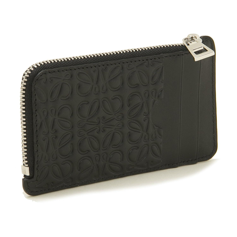 (ロエベ) LOEWE 財布 レディース COIN CARDHOLDER コイン カードホルダー 107.55.K07 1100 BLACK [並行輸入品] B07DL5XYQF