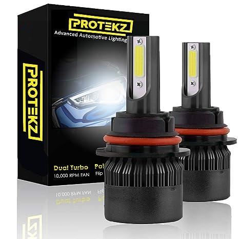 Protekz X H11 H8 H9 LED Headlight Bulbs 60w Pair 6000K White Light Kit
