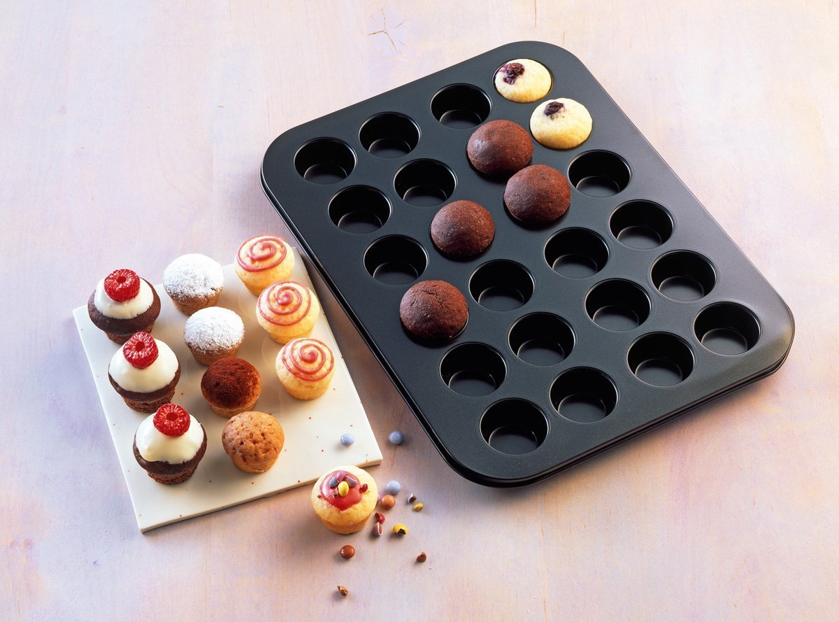 38x27 cm Kaiser Muffin World Stampo per 24 Mini Muffin