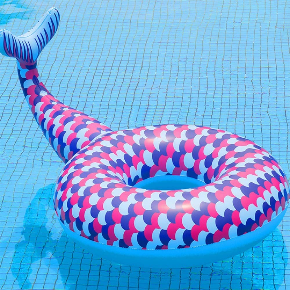 Giant Inflatable Mermaid Swim Circle, Pool Float for Party, Happy Time in Summer (Color : Purple) by Cass (Image #2)