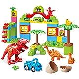 ToyVelt Dinosaur Blocks Toy 72 Dinosaur Blocks Toy - Jurassic Era Block Set - Jurassic Construction Toys - Entertaining…