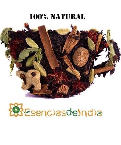 GIRNAR - CHAI DE LA INDIA CON LEMONGRASS 100% NATURAL, SIN LECHE - 100GR (10 bolsitas de 10gr) Té Instantáneo con Especias de la India.