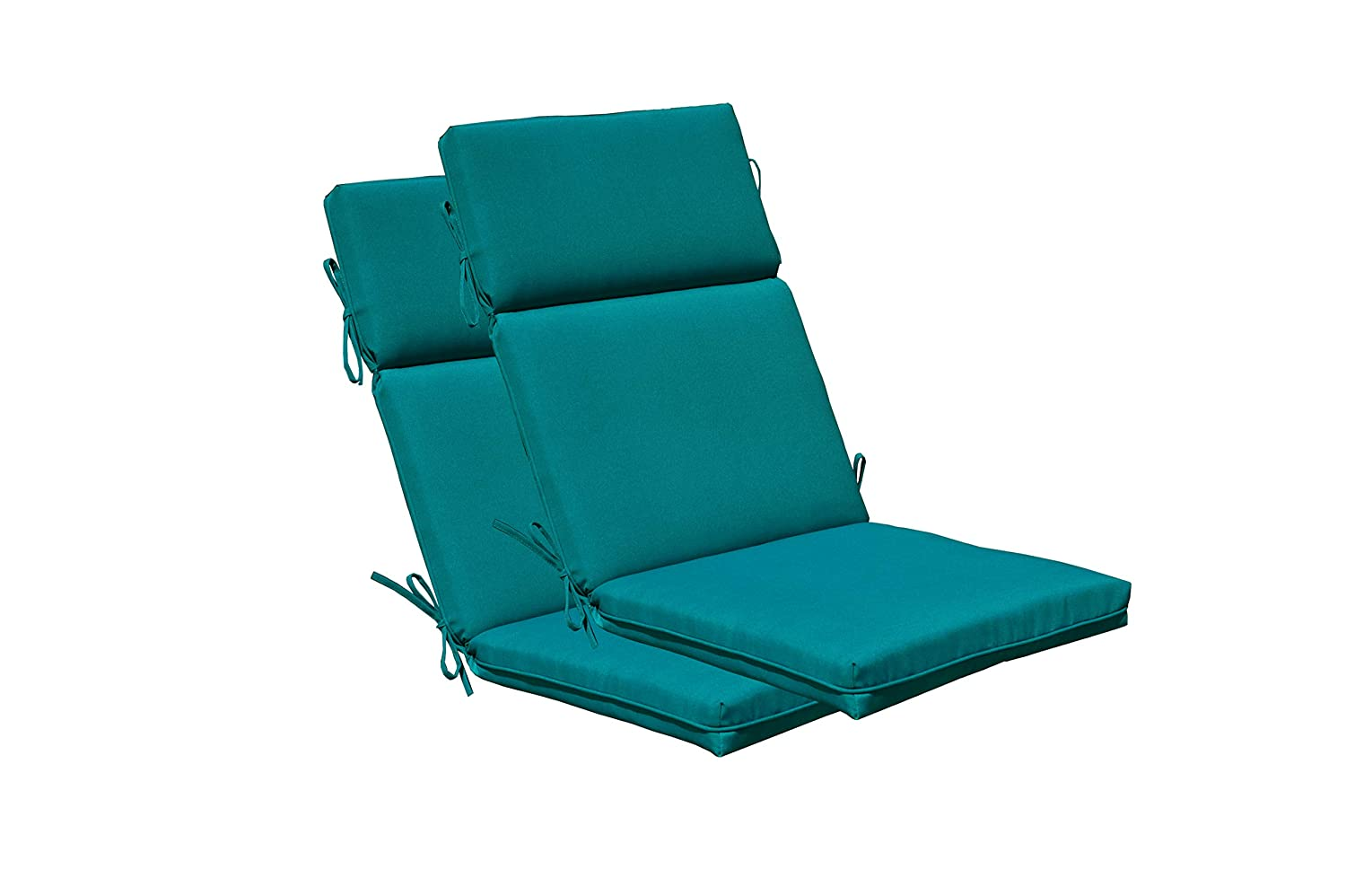 SewKer Indoor Outdoor PatioTop Quality High Back Chair Cushion Teal