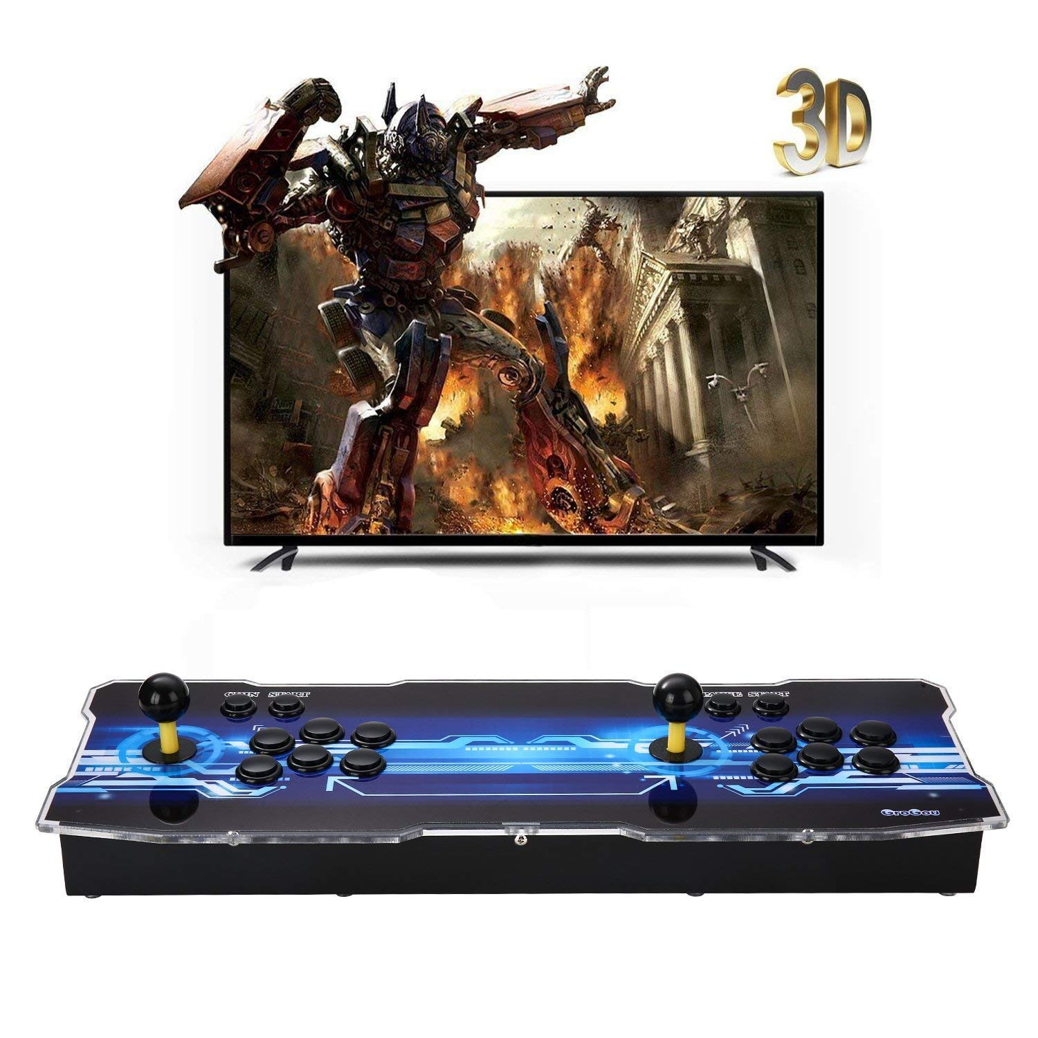 [2350 HD Retro Games] 3D Pandoras Box Arcade Video Game Console 1080P Game System with 2350 Games Supports 3D Games (Black) 1920x1080 by TanDer (Image #2)
