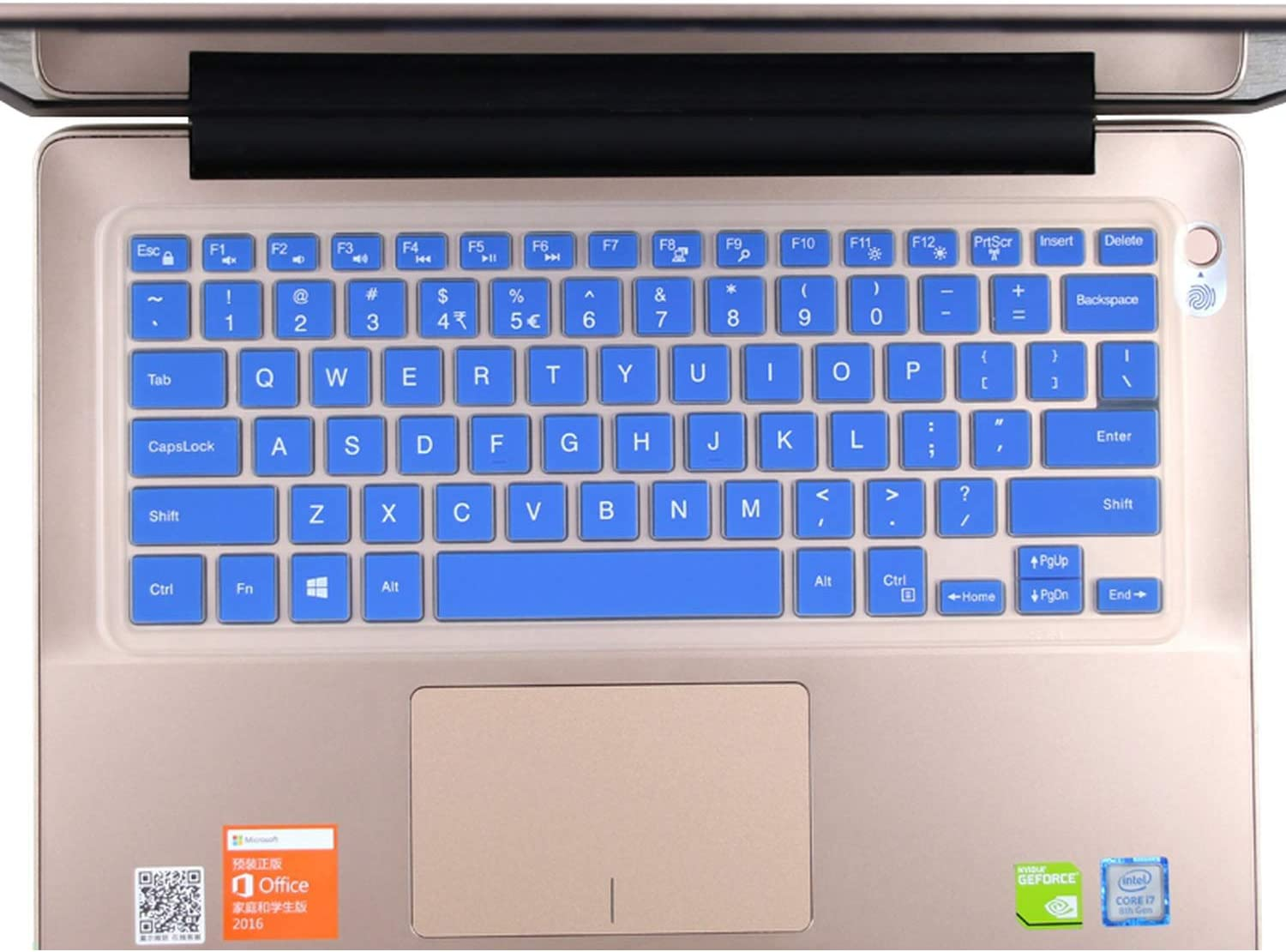 Inspiron 7000 7569 7570 7573-Transparent Silicone Keyboard Cover Skin for Dell Inspiron 15 5582 I5582 5581 5580 5000 5568 5578 5579 5585