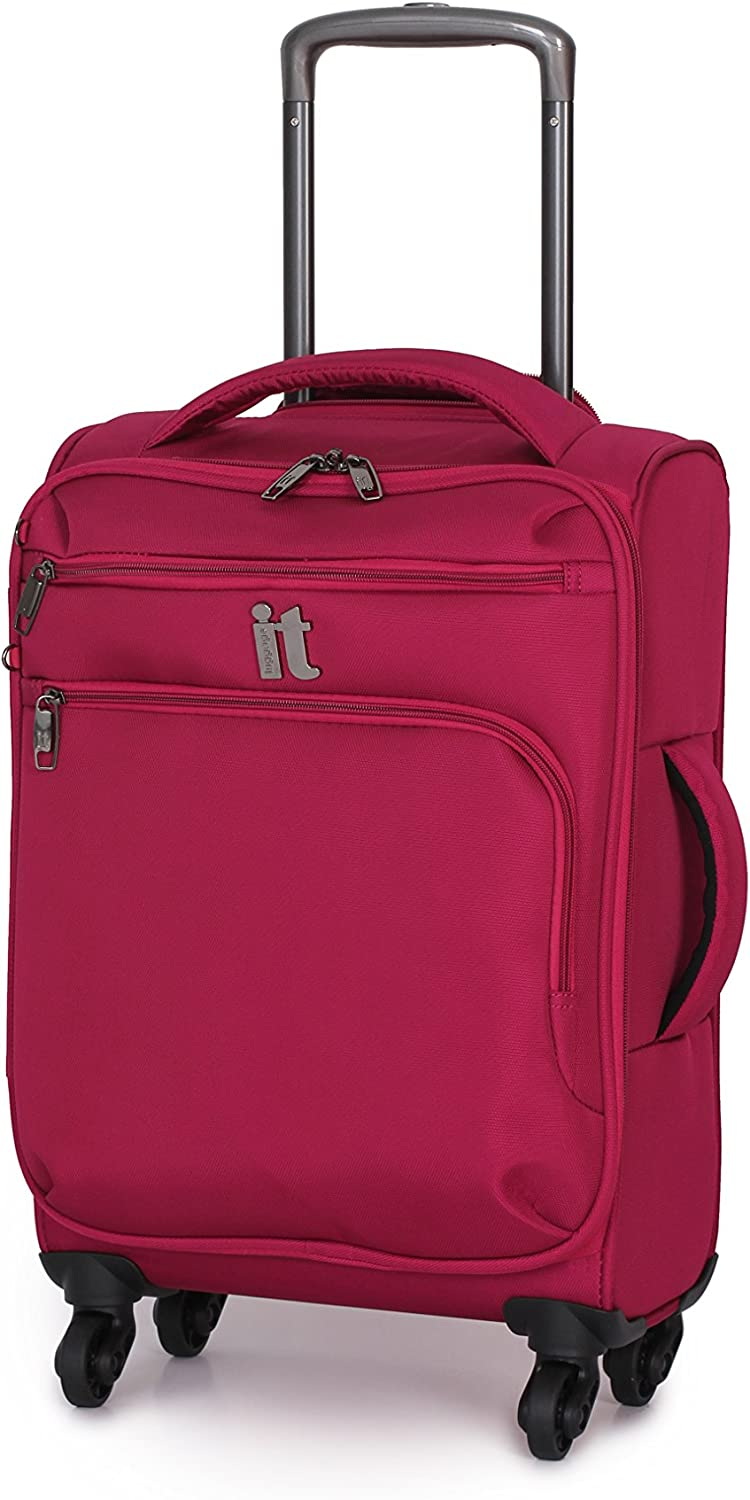 it luggage Mega lite Luggage Spinner Collection 20.5 Inch Carry On, Cerise, One Size