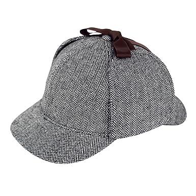 Amazon.com  Sherlock Holmes Caps Detective Hats Deerstalker Cap Hat Props   Clothing 5f11a6cc840
