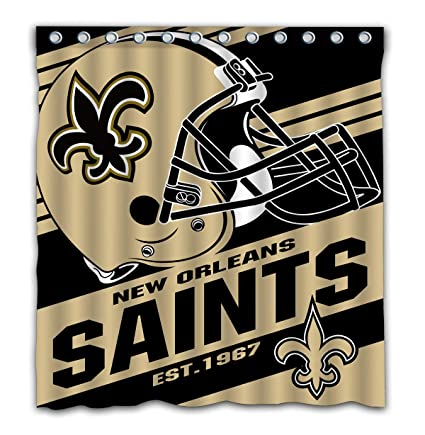 Image Unavailable Not Available For Color Potteroy New Orleans Saints Team Stripe Design Shower Curtain